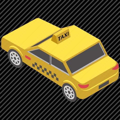 automobile, cab, taxi car, taxicab, transport icon