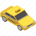 automobile, cab, taxi car, taxicab, transport icon