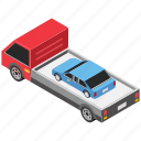 car carrier trailer, car carrying trailer, car hauler, transport trailer, transportation
