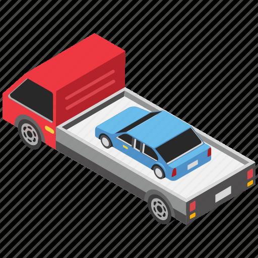 car carrier trailer, car carrying trailer, car hauler, transport trailer, transportation icon