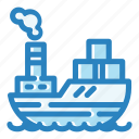 boat, cargo, sea, ship, shipping, transport, transportation icon