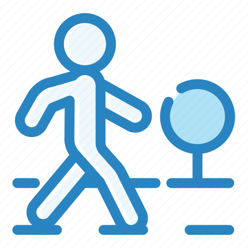 city, crosswalk, pedestrian, road, street, traffic, zebra icon