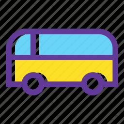 autobus, bus, public transport, public transportation, transport, transportation, vehicle icon