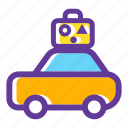 car, luggage, transport, transportation, travelling, vacation icon