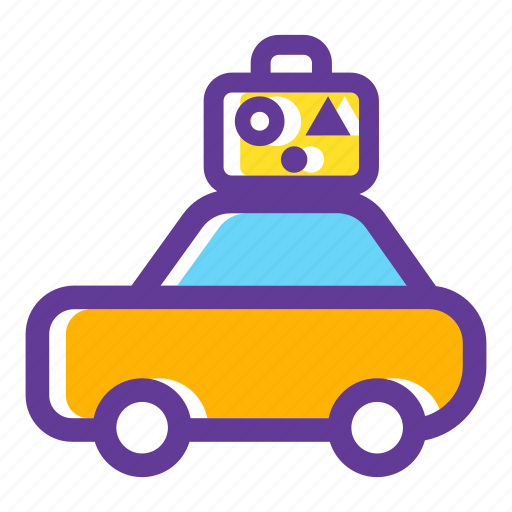 car, luggage, transport, transportation, travelling, vacation icon