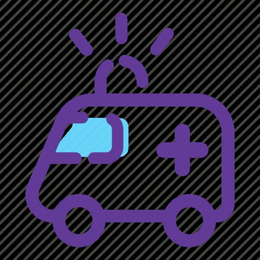 ambulance, car, emergency, medicine, transport, vehicle icon
