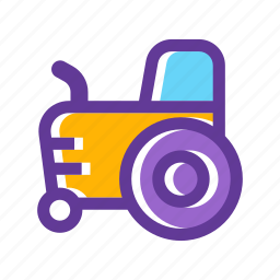 agriculture, crop, farm vehicle, tractor, transport, vehicle icon