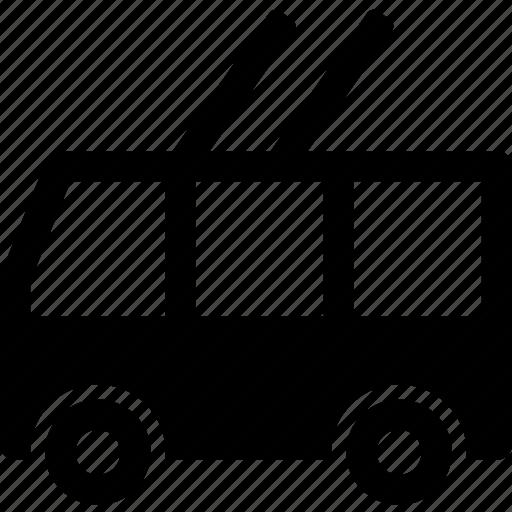 city, people, public, transport, trolleybus, vehicle icon