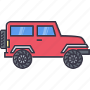 car, machine, sport, transport, transportation, utility, vehicle icon