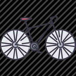 bicycle, bike, machine, movement, transport, transportation icon