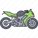 bike, machine, motorcycle, movement, sport, transport, transportation icon