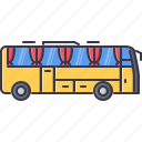 bus, car, machine, movement, transport, transportation icon