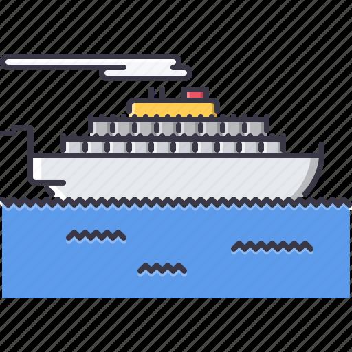 machine, motor, movement, ship, transport, transportation, vessel icon