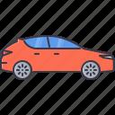 car, hatchback, machine, movement, transport, transportation icon
