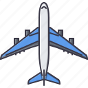 airplane, machine, movement, transport, transportation icon
