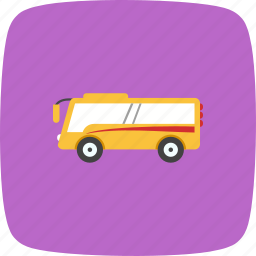 bus, schoolbus, station, stop, street, transportation, travel icon