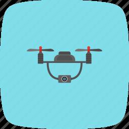 camera, device, drone, drone robot icon