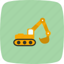 construction, excavator, work icon