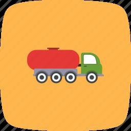 fuel, oil tank, oil tanker, tank truck icon