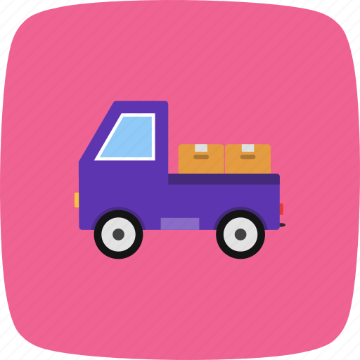 loader, truck, van icon