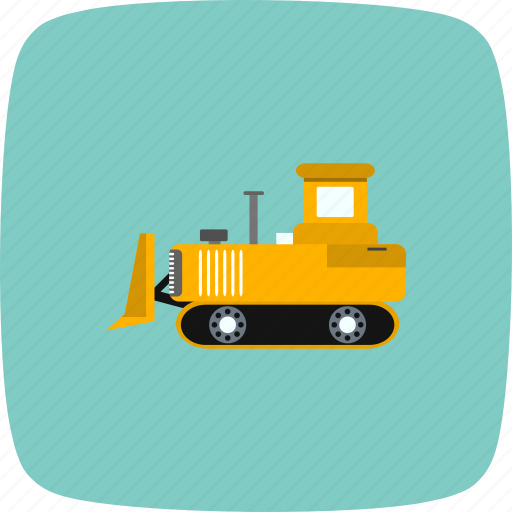 bull dozer, construction, machine icon