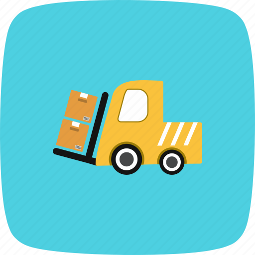 cargo, carrier, loader icon
