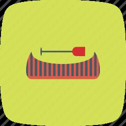 boat, canoe, canoeing, river, row, rowing, ship icon
