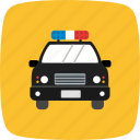 car, cop, crime, defence, patrol, policecar, travel icon