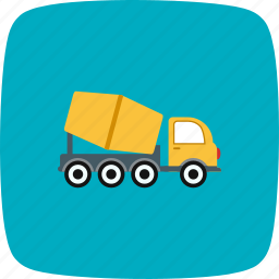 concrete mixer, construction, heavy work, truck icon