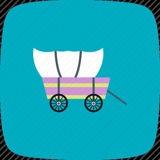 advanture, cart, cowboy, historical, pioneer, wagon, wheel icon