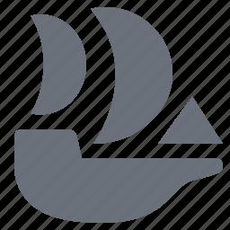 nautical vessel, pika, sailboat, sailing boat, sailing ship, simple, traffic, transport, transportation, travel icon
