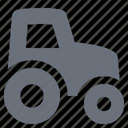pika, simple, tractor, traffic, transport, transportation, travel icon