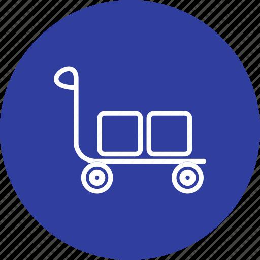 basket, retail, shop, shopping, store, supermarket, trolley icon