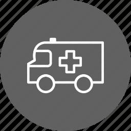 accident, aid, alarm, alert, ambulance, emergency, medical icon