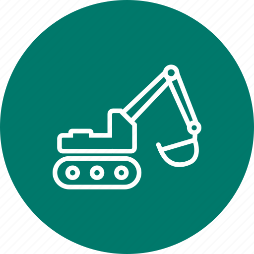 construction, excavator, machinery icon