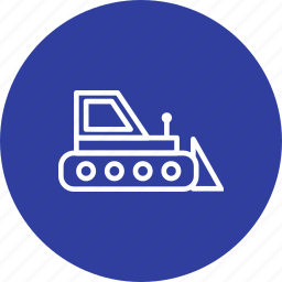 bull dozer, construction, heavy machinery, machine icon