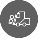 heavy, loader, machine icon