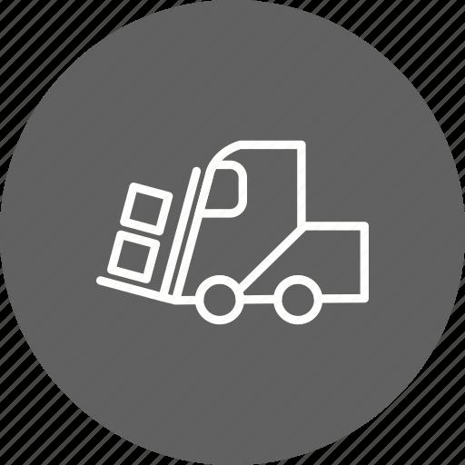 excavator, heavy, loader, machine, manage, work icon
