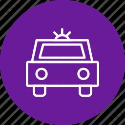 car, cop, crime, defence, patrol, policecar, travel icon