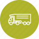 delivery truck, tipper truck, truck icon
