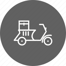 bike, box, courier, motor, motorbike, pizza, scooter icon