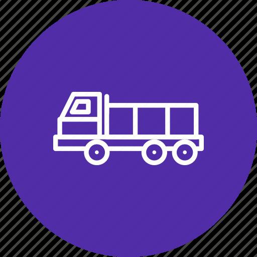 construction, dumper, heavy, truck icon