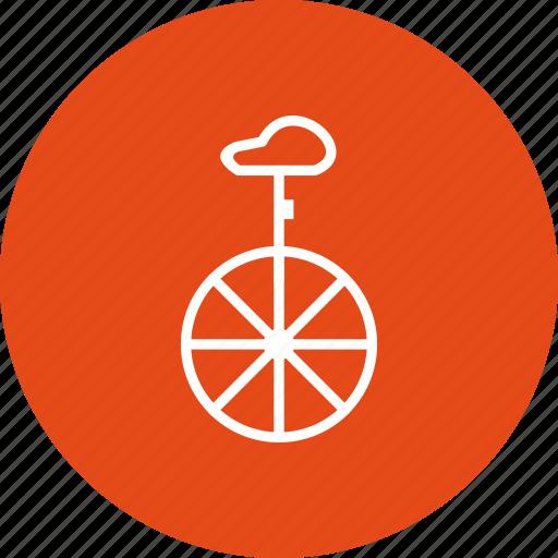 acrobat, circus, uni cycle icon