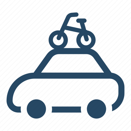 bicycle, car, transport, transportation, travelling, vacation icon