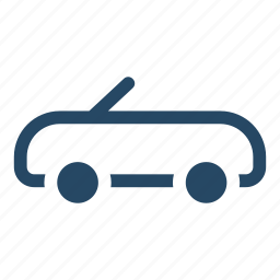 cabriolet, car, convertible, driving, transport, vehicle transport icon