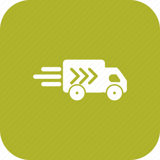 delivery truck, truck, van, vehicle icon