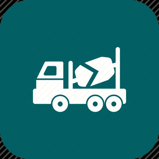 concrete mixer, construction, truck icon