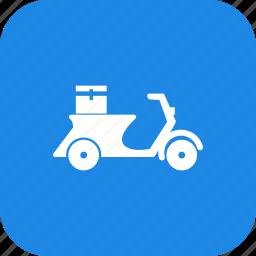 bike, courier, delivery bike icon