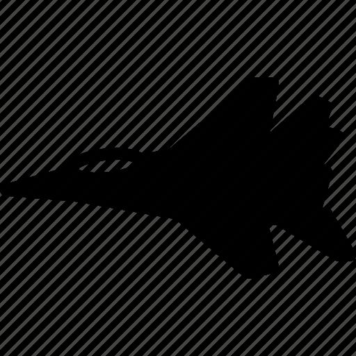 jet, plane, solid, transport icon