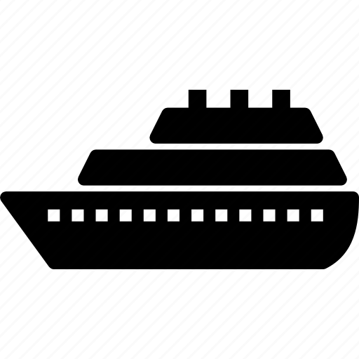 ship, solid, transport icon